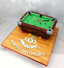 pool table birthday cake