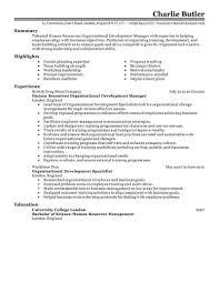Entry Level Hr Resume Beautiful Best Organizational Development
