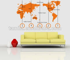 home office world. World Map And Time Zone Large Wall Sticker Decal TV Sofa Background Home Office Decor