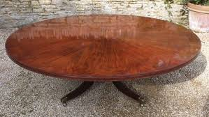 large round regency antique dining table