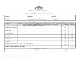 Competency Assessment Worksheet Revised 2 6 8 Sample Form Template ...