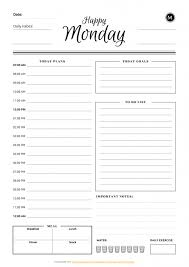 Daily Planner Sheets Daily Planner Templates Printable Download Pdf