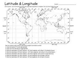 Latitude Longitude Geography Practice Maps