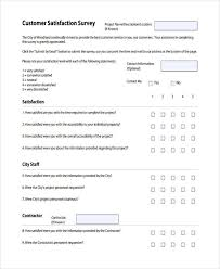 Free Customer Satisfaction Survey Example Of Survey Forms