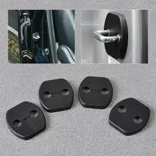 image is loading new black 4pcs car door striker cover lock