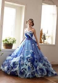 カラードレス ブル35003b ウエディングドレスのレンタルなら愛