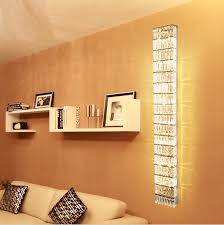 large wall sconce lighting. Parlor Tall Crystal Wall Lamps KTV Large Modern Long Sconce Abajur Hallway Living Room Led Indoor Lights-in LED From Lighting N