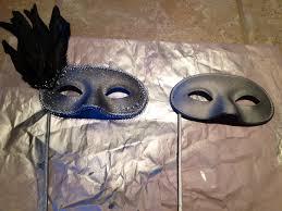 Plain White Masks To Decorate DIY masquerade mask Plain white mask spray paint silver silver 24
