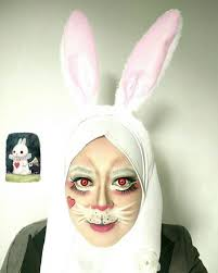 rabbit costume makeup