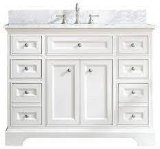 South Bay 43 Bathroom Vanity White Finish Transitional Bathroom Vanities And Sink Consoles By Ari Kitchen Bath Houzz