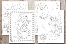 Free worksheets, coloring pages and printables for kids, home & blogs kids printable coloring pages free printables for preschoolers printables free fun printable free printable easy origami elephant craft for kids of all ages. 11 Free Printable Mermaid Coloring Pages No Prep Activity For Kids The Artisan Life