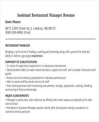 restaurant resumes restaurant manager resumes 17 best operations resume templates
