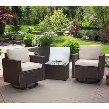 outdoor wicker resin 3 piece patio furniture set with 2 chairs and