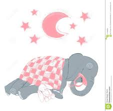 Baby Elephant Drawings Hand Drawn Vector Illustration With A Cute Baby Elephant Sleeping