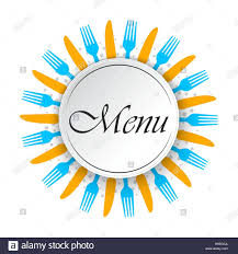 Abstract Menu Background With Knifes And Forks Vector