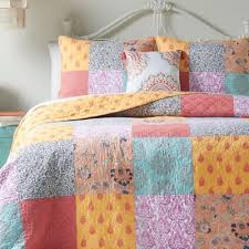 Buy Orange and Blue Quilts from Bed Bath & Beyond & Jessica Simpson Sonya Reversible Twin Quilt Adamdwight.com