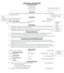 Skill Examples For Resumes Skills Based Resume Template Free ...