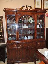dining room display cabinets ebay. large chinese chippendale mahogany breakfront dining room display cabinet curio cabinets ebay c