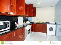 Kitchen In The Apartment Of Luxury Hotel Stock Photo Image Of