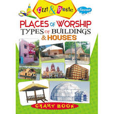Cut Paste Chart Book Places Of Worship Types Of