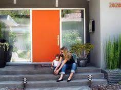 modern front door orange. Mid Century Front Door Modern Orange E