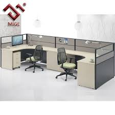 Office desk dividers Mounted Modern Office Furniture Shape Wood Office Desk Partition
