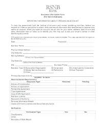Business Account Application New Customer Account Form Template Setup Application