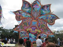 kite festival during the day of the dead in more kites