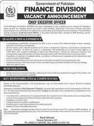 Chief Executive Officer Ceo Job At Pakistan Financial