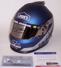 Lowes Psa Jimmy Johnson Autographed Lowes Nascar Mini Helmet Psa Dna