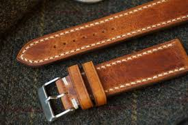 horween natural derby leather watch strap 18mm 19mm 20mm image 0