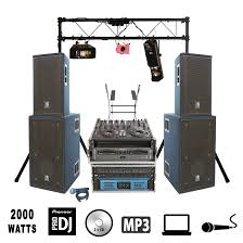 all the equipment you need for a dj based party delivered and installed giving you a huge cost saving