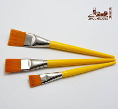 3pcs crafts brush big nylon hair level head row pen oil painting brush painting brush art
