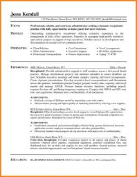 Receptionist Resume Examples 100 Medical Receptionist Resume Examples Format Of Acv Examp Sevte 40