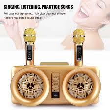 Họ Hát Karaoke Âm Thanh Loa Bluetooth Đôi Micro Không Dây Kết Nối Tivi Hỗ  Trợ Ghi Âm Bài Hát|Đầu Karaoke