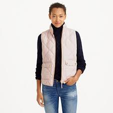 A lightweight down vest that's compact and easy to layer but still ... & Crew - Excursion quilted down vest, blush pink vest Adamdwight.com