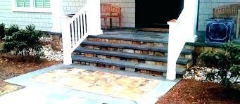 front steps design wood