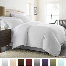 beckham hotel collection luxury soft brushed 1800 series microfiber duvet cover set hypoallergenic king cal king white ieh duvet king white