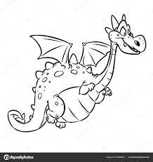 Dragon Fairy Dierlijk Beeldverhaal Van Vrolijke Geïsoleerde