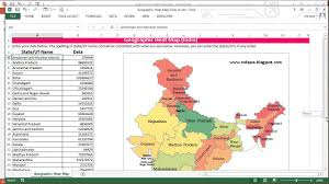 heatmap in excel geographic heat map for india in excel youtube