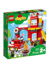 Lego Duplo Light And Sound Fire Truck Shop Lego Duplo Town Fire Station 10903 Online In Dubai Abu Dhabi And All Uae