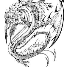 Scary Dragon Coloring Pages Print With Liberal Luxury 4822 Deeptown