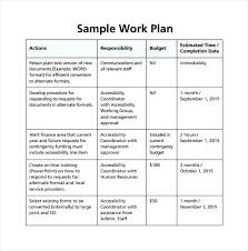 Work Plan Template Excel Paper Printable Templates Impression ...