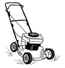 commercial lawn mower silhouette. lawn mower clipart black and white free commercial silhouette