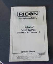 ricon s series wheelchair and standee lift item ah9196 s Ricon Wheelchair Lift Troubleshooting ricon s series wheelchair and standee lift full size in new window