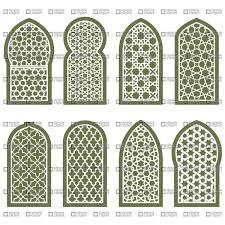 Arabesque Pattern Stunning Figured Arabian Window Ornament Grating Arabesque Pattern Vector