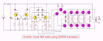 <b>Inverter</b> circuit <b>500w</b>, <b>12V</b> to 220V - ElecCircuit.com