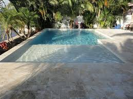 fiberglass pools with beach entry. Delighful Fiberglass Sunbench And Bubbler Fiberglass Pool Can Still Use Electric Retractable  Cover Bc Rectangle Design For Fiberglass Pools With Beach Entry T