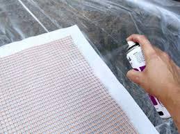 ci carla wiking canvas drop cloth painted patio rug spray