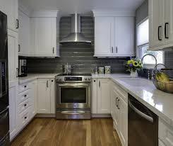 Kitchen Island Fantastic Kitchen Decor With Glossy Custom Cabinet - One wall kitchen designs